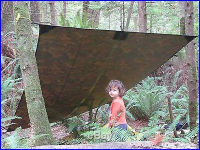 100% Waterproof Camo Tarp Camouflage Hunting Camping Fishing Canoe Survival Kit