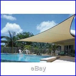 10-Feet x 10-Ft Triangle Sun Screen Tent Tepee Wigwam Wikiup Tupik Canvas Shade