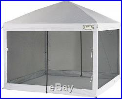10' X 10' Straight Leg Smartshade Instant Pop Up Tent Gazebo Outdoor Screenhouse