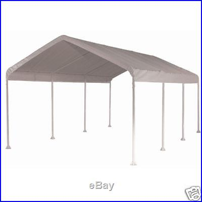 10' X 20' Frame Valance Tarp Cover Replacement Canopy Shade White Color