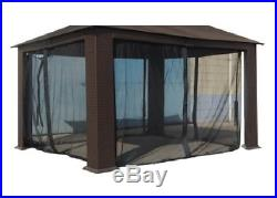 10-ft x 12-ft Insect Net Bed Canopy Black Portable Gazeboo Tent Picnic Outdoor