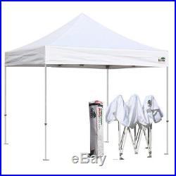 10' x10' EZ Pop Up Canopy Outdoor Straight Leg Folding Gazebo Shade Shelter Tent