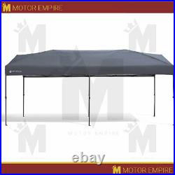 10'x20' Gray Central Lock Canopy Instant Shelter Easy Setup Water UV Resistant
