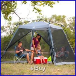 10' x 10' Instant Screen Canopy With 2 Lounge Chairs Outdoor Camping Hiking Tent