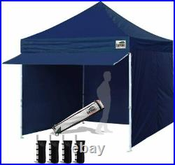 10 x 10 Pop up Canopy Commercial Outdoor Tent & 24 Squre Ft Extended Awningg