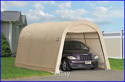 10' x 15' x 8' Round Top Shelter Sandstone Tan Shelter Logic 62689
