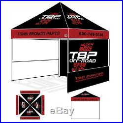 10x10 Commercial Custom Logo Printed Pop Up Canopy Show Tent withSide Zipper Walls