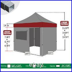 10x10 Outdoor Waterproof Tent EZ Pop Up Canopy Gazebo with4 Zipper Side Walls