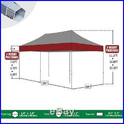10x20 Commercial Ez Pop Up Canopy Outdoor Weeding Party Tent with Wheeled Bag