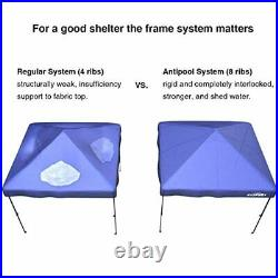 12X12 Patented Antipool Instant Beach Canopy Shelter for Rain or Sunshine