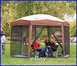 12 X 10 Outdoor Screen Canopy Gazebo Tent House Sun Shade Bug Netting Camping