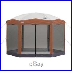 12 x10ft Hex Instant Screened Canopy/Gazebo Camp Tent Hiking Sport Shelter Bag