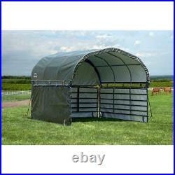 12' x 12' Enclosure Kit Corral Shelter Green Waterproof Pets Farm Livestock Home
