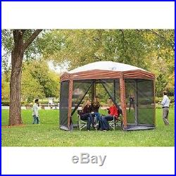12x10 Coleman Outdoors Patio Camp Instant Screened Canopy Gazebo Shelter Tent
