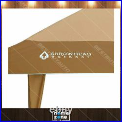 13'x13' Auto extension Push Up Gazebo Shelter Canopy Height Adjustable Tan