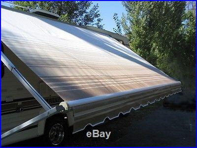 15' RV Awning Replacement Fabric for A&E / Dometic, Carefree, Faulkner (14'3)