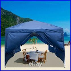 20'x10' Heavy Duty Outdoor Canopy Party Wedding Tent Gazebo Carport with6 Sidewall