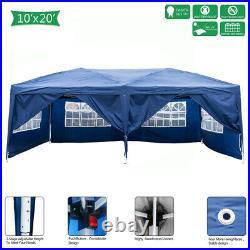 20x10ft Heavy Duty Outdoor Canopy Party Wedding Tent Gazebo Carport with6 Sidewall