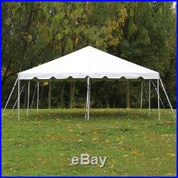20x20 White Vinyl Classic Frame Tent for Wedding Outdoors Event Party Catering