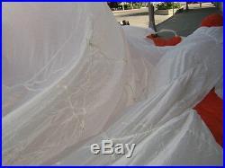 24' Diameter White and Orange Circular Parachute Canopy (No Holes/Lines)