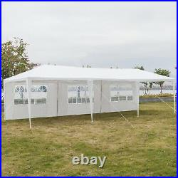 30'x10' Heavy Duty Outdoor Canopy Party Wedding Tent Gazebo Carport with7 Sidewall
