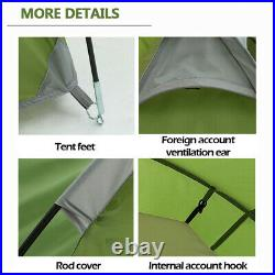 3-4 Person Family Camping Tent Tunnel Cabin Waterproof Shelter Hiking Travelling