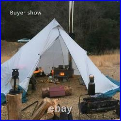 3-4 Person Tent Ultralight Outdoor Camping Teepee 20D Silnylon Pyramid Large