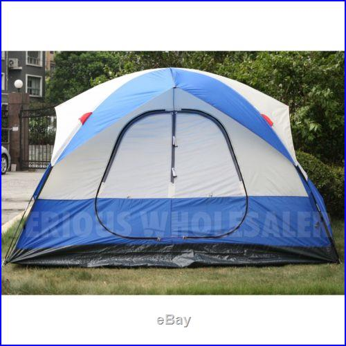 5 6 Person Camping All Season Outdoor 2 Room Domed Easy Family Tent 71'' High