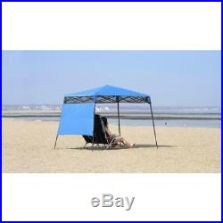 6 ft. X 6 ft. Blue go hybrid compact backpack canopy shade quik leg slant sun