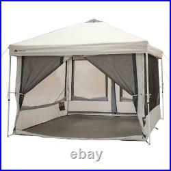 7 Person 2in1 Screen House Connect Tent with 2 Doors for Outdoor Camping Beige