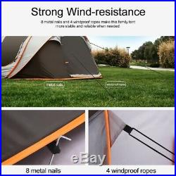 8 Person Outdoor Camping Tent Waterproof Auto Setup UV Sun Shelters Hiking
