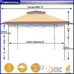 ABCCANOPY 13x13 Canopy Tent Instant Shelter Pop Up Canopy 169 sq. Ft Outdoor Sun