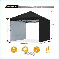 ABCCANOPY Outdoor Easy Pop up Canopy Tent with 2 Sun Wall Central Lock-Series