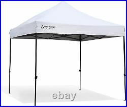 ARROWHEAD Outdoor 10x10 Heavy-Duty Pop-Up Canopy, Instant Shelter (White)