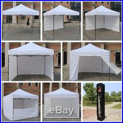 AbcCanopy 10x10ft Pop Up Party Tent Gazebo Canopy with Removable Sidewalls White