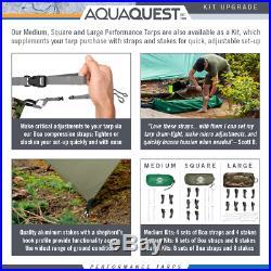 Aqua Quest Defender 13 x 10 ft Large Waterproof Tarp + Accessories Kit Camo