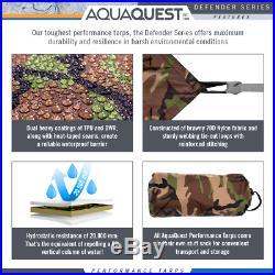 Aqua Quest Defender 13 x 10 ft Large Waterproof Tarp Camo