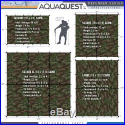 Aqua Quest Defender 15 x 15 ft XL Square Waterproof Tarp Camo