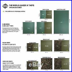 Aqua Quest Guide 10 x 10 ft Square Waterproof Tarp + Accessories Kit Green