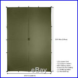 Aqua Quest Guide Tarp Large 13 x 10 ft Ultralight Waterproof Rip-Stop Sil Nylo