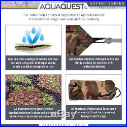 Aqua Quest Safari 13 x 10 ft Large Waterproof Tarp Camo