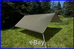 Aqua Quest Safari Tarp Square 10 x 10 ft Lightweight Waterproof Sil Nylon C