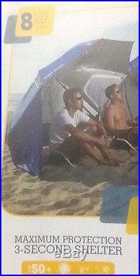BLUE Sport-Brella Portable Umbrella Beach Sun Shelter Shade Canopy Tent