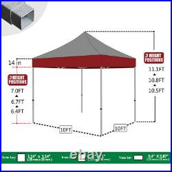 Basic Pop up Canopy 10x10 Instant Outdoor Party Portable Folded with Wheeled Bag