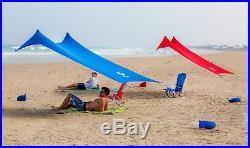 Beach Sun Shade Lightweight Canopy Portable Sun Shelter with Sandbag Anchor