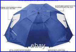 Beach Umbrella Sport Sun Rain Canopy Vented Tent Brella SPF 50+