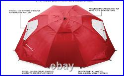 Beach Umbrella with Sand Anchor Vented Outdoor Sun Tent Pop-Up Shade