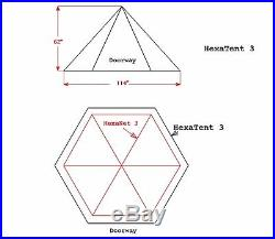 Bearpaw Wilderness Designs Cuben Fiber Hexatent 3