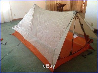 Big Agnes Scout UL 2 Ultralight 2 Person Tent Trekking Pole Setup 1 lb 9 oz