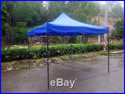 Blue 10x10 Instant Canopy Beach Sun Shade Tailgate Shelter Home Backyard Gazebo